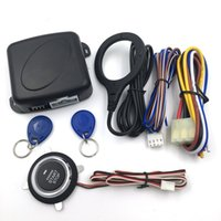 Wholesale engine start new resale online - New Car Alarm Engine Push Button Start Stop RFID Lock Ignition Switch Keyless Entry System Starter Anti theft System Hot Sale
