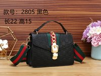 rote handtaschen zum verkauf großhandel-großhandel mode leder handtasche frauen handtasche brieftasche dame schwarz braun rot umhängetasche kette messenger bags totes verkauf