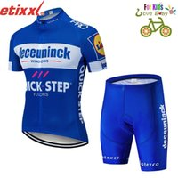 Wholesale cycling jersey set quick step resale online - Kids Quick Step summer Short Sleeve Pro Cycling Team Jersey Sets Breathable MTB Bike Wear Kids Girls Clothes Sets