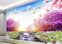 Wholesale small house living resale online - Modern beautiful small stream water grass Photo Wallpapers For Wall d Living Room Bedroom Shop Bar Cafe Walls Murals Roll Papel De Parede