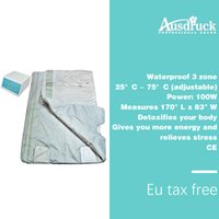 Wholesale heat slimming blanket resale online - Eu tax free Zones Far Infrared Sauna Slimming Blanket heating therapy Body slim Fat burning equipment