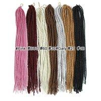 tranças janet venda por atacado-dreads cabelo sintético Janet coleção trança africano extensão do cabelo falso loira tranças dreadlocks crochê
