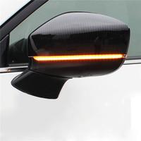 espelhos retrovisores venda por atacado-Lado da asa da porta lateral espelho retrovisor seguinte movendo blinker seqüencial led dinâmico turno sinal de luzes de viagem para mazda cx-5 cx8