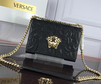 ingrosso belle borse rosse-Borsa monospalla ricamata di alta qualità in vera pelle color cuoio Borsa nera in oro rosso blu Borsa di lusso di marca donna