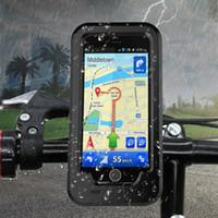 зажим велосипед руль оптовых-Новый Водонепроницаемый Велосипед Держатель Телефона Для Iphone 5 5 г Se 6 S 7 8 Plus X Руль Клип Стенд Кронштейн Противоударный Чехол T190702