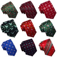 Wholesale christmas neckties for men for sale - Group buy GUSLESON New Arrival Christmas Tie Silk Jacquard Weave Quality Ties Tree Snow Man Fetival Theme Necktie Suit for Men Gift