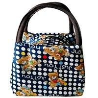 модный мешок для пикника оптовых-Portable Canvas Storage Waterproof Picnic Lunch Fashion Zipper Long Bag Polyester As Picture Show