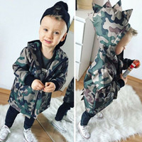 Wholesale boys clothes camouflage resale online - Kids Baby Coat Camouflage Dinosaur Hooded Boys Coat Clothes Long Sleeve Hoodie Pocket Zipper Tops Jacket Autumn Winter