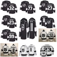 los angeles kings maillots achat en gros de-Kings de Los Angeles Chandails de hockey 11 Anze Kopitar 32 Jonathan Quick 8 Drew Doughty 77 Carter 99 Wayne Gretzky Maillot de hockey