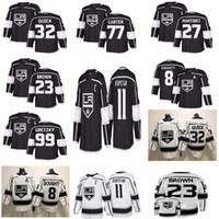 schnelles trikot großhandel-Los Angeles Kings Hockey Trikots 11 Anze Kopitar 32 Jonathan Quick 8 Drew Doughty 77 Carter 99 Wayne Gretzky Hockey Trikot