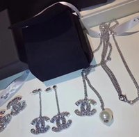 9deae4071 Wholesale cc rhinestone for sale - Luxury Classic Designer White Gold Full  Crystal CC Pendant Charm