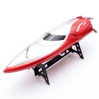 bateaux électriques pour les enfants achat en gros de-1 PCS Électrique Haute Vitesse De Course Télécommande Speedboat Eau Jouets Bateau Jouet Bateau De Course Bateau pour Enfants Enfants