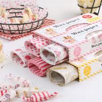ingrosso involucro bianco coniglio-Carta da imballaggio Sandwich Nougat Baking Carta da imballaggio Creativa Molti stili Involucro Rotolo di coniglio bianco Vendita calda 4 2 cm p1
