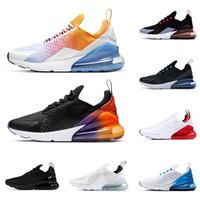 siyah erkekler spor koşu ayakkabıları toptan satış-2019 Erkekler Koşu Ayakkabıları 270 s Yaz Degradeler Üçlü Siyah Regency Mor Nefes 270 Erkek Eğitmenler Tasarımcı Spor Sneakers React