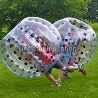 fútbol burbuja para la venta al por mayor-Nuevo diseño 0.8mm PVC 1.5m Air Bumper Ball Body Zorb Ball Bubble football, Bubble Soccer Zorb Ball para la venta