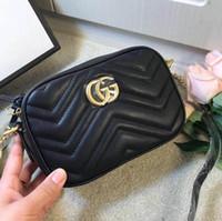 Wholesale sale sequin bags resale online - 2019 SALE Womens Luxury Wave Heart Marmont Handbags Triple Black White Red Leather Shoulder Bag Lady Fashion Handles Chain Dress Totes