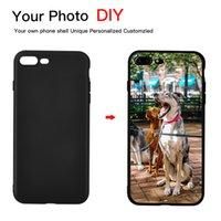 iphone caso de imagen personalizada al por mayor-Negro DIY Photo Phone case Imagen personalizada Tapa suave TPU Negro para iPhone X XR XS Max 7 8 7 Plus 6 6S Plus 5 5S SE Coque