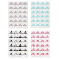 adesivo de canto de foto diy venda por atacado-24 Pcs Photo Corners Folha Álbum Ornamentos DIY Adesivos Para Artesanato Decorações Do Caderno De Scrapbook Notebook