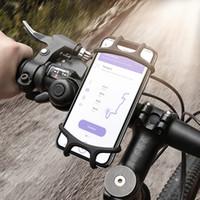 evrensel bisiklet standı toptan satış-Ayarlanabilir Bisiklet Telefon Tutucu iPhone Samsung Için Evrensel Cep Cep Telefonu Tutucu Bisiklet Gidon Klip Standı GPS Montaj Braketi