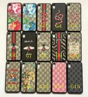 cubierta de la caja dura de la flor para el iphone al por mayor-Marca de impresión j flor serpiente tigre caja del teléfono móvil para iphone Xs max Xr X 7 7plus 8 8plus 6 6plus TPU + PC tapa dura
