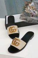 zapatillas gastadas al por mayor-Nueva marca de gama alta para mujer de verano zapatillas de alta calidad de cuero planas sandalias de las mujeres zapatos casuales 35-41 yardas envío gratis resistente al desgaste