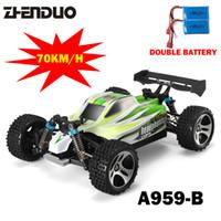 ingrosso macchine per batteria rc-1: 18 Double Battery 4wd A959 Upgrade Versione A959 -B Rc Auto Radio Control Toys