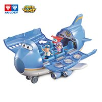 Wholesale toy aircraft wings resale online - AULDEY Jumbo Super Wings Jett Jimbo Big Wing Aircraft Scene Series Set Transforming Robots Launch Airplane Education Toddler Kids Toys