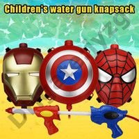 Wholesale combat backpacks for sale - Group buy Avenger League Boy Boy Iron Man Spider man Backpack Water Gun Outdoor Combat Water Gun Combination Launches Water Gun Toy