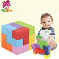 Wholesale intelligence blocks resale online - Magnetic Building Blocks Magnetic Tiles for Kids Educational Toys Stress Relief Toy Games Square Magnets Cube Intelligence toys SH190913