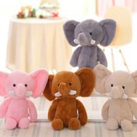 mini-bichos de pelúcia venda por atacado-Mini bonito adorável elefante bichos de pelúcia crianças bebê macio plush toy presente de aniversário