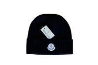 patrones de lana de punto sombreros al por mayor-2018 moda de invierno para hombres y mujeres de lana sombrero cálido punto sombrero letra patrón casual sombrero