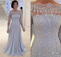 Wholesale red gown tulle long resale online - Lavender Elegant Mother of the Bride Dress Lace Mother Dresses Long Sleeves Bateau Sheath Formal Evening Gown Plus Size