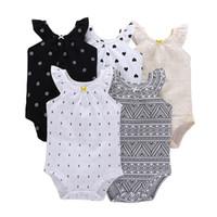 одежда летней принцессы оптовых-Детская дизайнерская одежда для девочек Summer Baby Kids Clothing 5 шт. / компл. хлопка с короткими рукавами платье принцессы для девочек