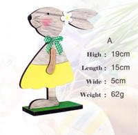 decorações para easter venda por atacado-2019 New arrival Easter Bunny Decorations toy Adorável Nordic Easter Desktop Decorations Skins presentes de Natal das crianças