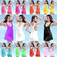 22ecfa42b Caliente chaleco barato falda de playa Sexy Bikini cubierta de la camisa de  vacaciones vestido de niña Lycra color sólido tamaño libre 11 colores VB002