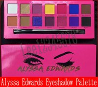 красные палитры оптовых-Макияж глаз Алисса Эдвардс Роза красная палитра теней для век 14 цветов матовая палитра теней для век с кистью для макияжа от epacket