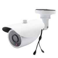 ingrosso telecamera di sicurezza esterna notturna-Analogia Telecamera CCTV Day Night Infrarossi Grandangolo 1200tvl Cmos con proiettile Ir-Cut Telecamera di sicurezza Cctv Sorveglianza domestica Esterna 24 LED
