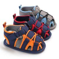 vaqueros de moda para bebés al por mayor-Jeans de lona Nuevo Bebé Niño Mocasines Niño Verano Niños Moda Sandalias Zapatillas de deporte Zapatos infantiles 0-18 Meses Sandalias de Bebé L