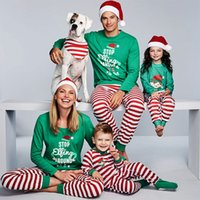 Wholesale father son clothing sets resale online - Christmas Pajamas Family Clothing Family Matching Mother Daughter Father Son Clothes Clothing Sets New Year Sleepwear