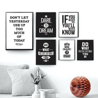 Wholesale painting quotes black white for sale - Group buy Motivational Inspiring Quotes Wall Art Canvas Painting Nordic Posters And Prints Black White Wall Pictures For Living Room Decor