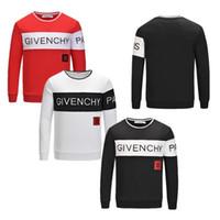suéter de design para homens venda por atacado-Moda Design Homens GIV da camisola Men Marca pulôver manga comprida de luxo camisola Hat algodão bordado 2020 Primavera Mulheres