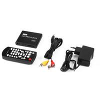 kartenleser video großhandel-Mini-Media-Player 1080P Mini-HDD-Media-Box TV-Box Video-Multimedia-Player mit SD-MMC-Kartenleser 100Mpbs EU-Stecker