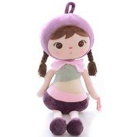 kızlar için metoo bebek toptan satış-Peluş Oyuncaklar Dolması Kız Bebek Bebekler Metoo Doll Doğum Günü Hediyeleri Kız Çocuklar Bebek Duş Hediye için Mor 18 Inç