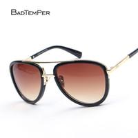 ingrosso occhiali aviatore per le donne-Badtemper Square Luxury Driver Glasses For Men Marca Desinger Women Mirror Double Occhiali da sole Male Aviator Glass De Sol