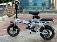 складной велосипед электрический оптовых-SAFENEW.Smart складной электрический велосипед 14inch Мини Электрический велосипед 48V30A / 32A LG Lithium