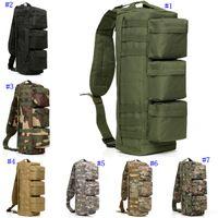 bolsa de montañismo al aire libre al por mayor-Deportes al aire libreJungle Tactical Assault Pack Sports Bolso de alpinismo con cofre de un solo hombro con cremallera Bolsa de senderismo para acampar militar MMA2451