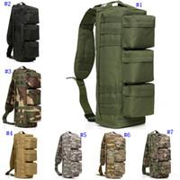 ingrosso borsa alpinismo all'aperto-Sport all'aria apertaJungle Tactical Assault Pack Sports Con cerniera Borsa monospalla con spalla singola Borsa da campeggio militare MMA2451
