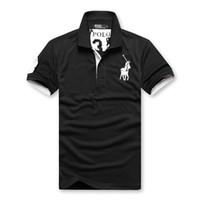 camisa preta fina t mans venda por atacado-Polo Mens Designer Camiseta Preto Verde Amarelo Designer Camisa Ralph Lauren marca Homens Mulheres camiseta Moda clássico T curtos