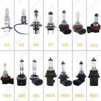 h11 h9 h7 bulb venda por atacado-2pcs carro H1 / H3 / H4 / H7 / H8 / H9 / H11 / H16 / 880/881/9005/9006 55W / 100W 80W Branco Faróis Nevoeiro Bulb # 2861