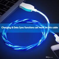 câble de chargement fluide visible achat en gros de-Câble de clignotant à DEL visible clignotant Câble de charge de synchronisation de données USB Micro 1M 3FT Lumière UP Type C Câble Fil pour Samsung S8 S9 plus HTC Universel